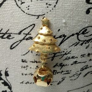 Christmas Tree Lapel Pin With Bell